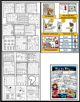 Letter of the week-LETTERS M, N, O, P, Q ACTIVITY PACKS-BUNDLE 4