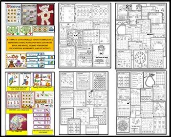ALPHABET WORKSHEETS MEGA PACK BUNDLE 4- LETTERS M, N, O, P, Q ACTIVITY PACKS