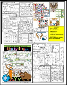 ALPHABET WORKSHEETS MEGA PACK BUNDLE 6-LETTERS W, X, Y, Z ACTIVITY PACKS