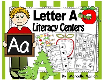 Letter of the week- Letter A Literacy Center Activities for kindergarten