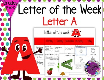 Letter of the week - Letter A Packet
