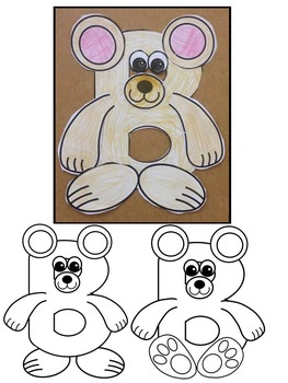 Letter B Art Activity Templates- B is for Bear & Butterfly