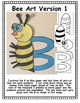 Letter B Art Activity Templates- B is for Bee Art