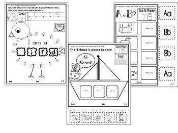 Letter of the week- Letter B Literacy Center Activities for kindergarten
