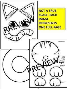 Letter C-Art Activity Templates- C is for CAT