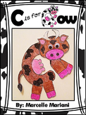Letter of the week-Letter C Art Activity Template- C is for COW Art Activity