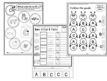 Letter of the week- Letter C Literacy Center Activities for kindergarten