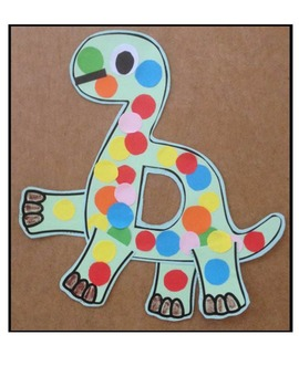 Letter of the week-Letter D-Art Activity Templates- D is for Dinosaur