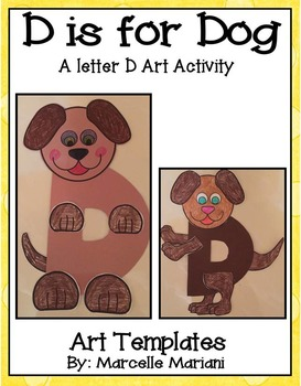 Letter D Art Activity Templates- D is for Dog