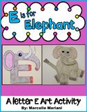 Letter E Art Activity Template-E is for ELEPHANT ART ACTIVITY