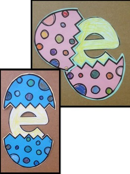 Letter of the week-Letter E-Art Activity Templates- E is for Elk and Egg