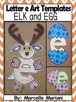 Letter E-Art Activity Templates- E is for Elk and Egg
