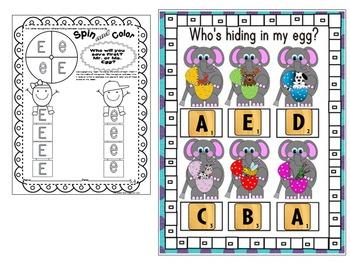 Letter of the week- Letter E Literacy Center Activities for kindergarten