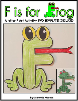 Letter of the week, Letter F Art Activity- F is for FROG art activity