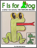 Letter F Art Activity- F is for FROG art activity