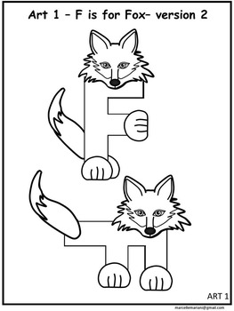 letter f art activity template f is for fox art activity