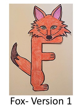 Letter F Art Activity Template- F is for Fox art activity