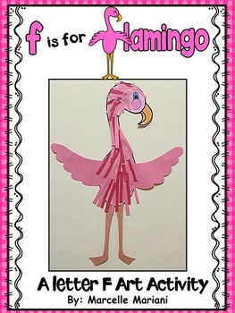 Letter of the week-Letter F-Art Activity Template- Flamingo Art Activity