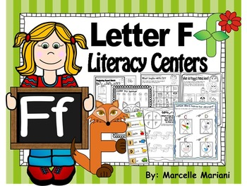 Letter of the week- Letter F Literacy Center Activities for kindergarten