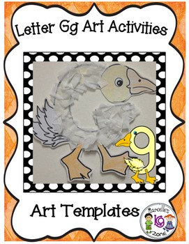 Letter G Art Activity Templates- G is for Goose art activity