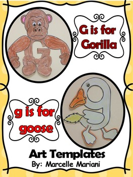 Letter G Art Activity Templates- G is for Gorilla an goose