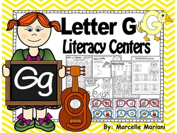 Letter of the week- Letter G Literacy Center Activities for kindergarten