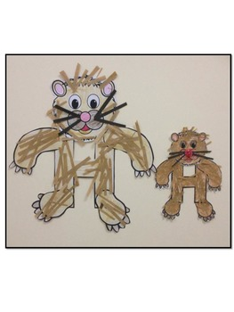Letter H Art Activity Template- H is for Hamster