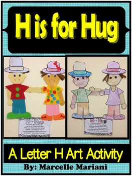 Letter of the week-Letter H-Art Activity Templates- H is for Hug