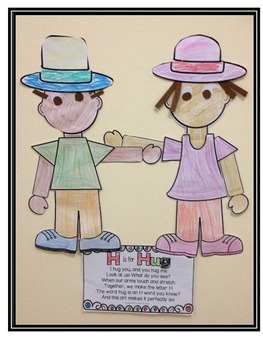 Letter H Art Activity Template- H is for Hug