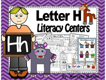 Letter of the week- Letter H Literacy Center Activities fo