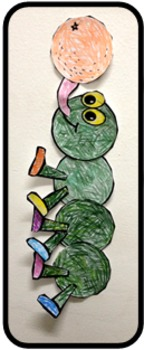 Letter I Art Activity Template- Iguana and Inchworm art templates