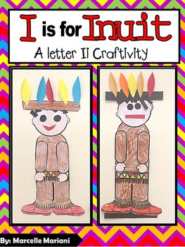 Letter I-Art Activity Template- Inuit Art Template