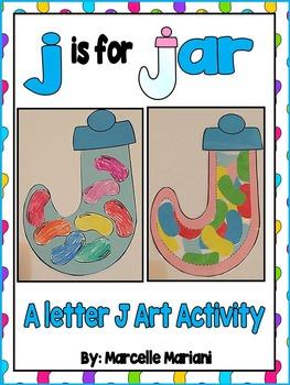 Letter of the week-Letter J-Art Activity Templates- j is for jar