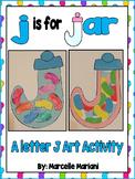 Letter J Art Activity Template- j is for jar art activity