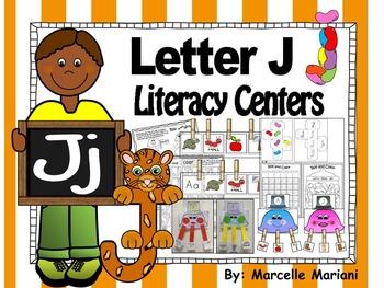 Letter of the week- Letter J Literacy Center Activities for kindergarten