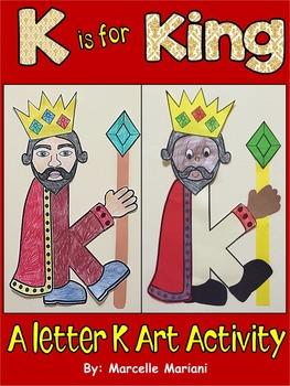 Letter of the week-Letter K- K is for KING- A letter K Art
