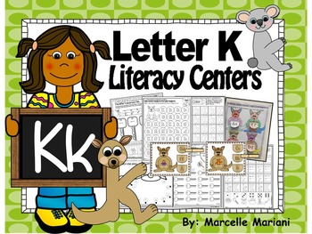 Letter of the week- Letter K Literacy Center Activities fo