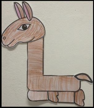 Letter L Art Activity Templates- L is for Llama art activity