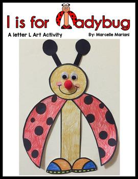 Letter L Art Activity- l is for ladybug art activity
