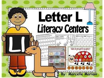 Letter of the week- Letter L Literacy Center Activities for kindergarten
