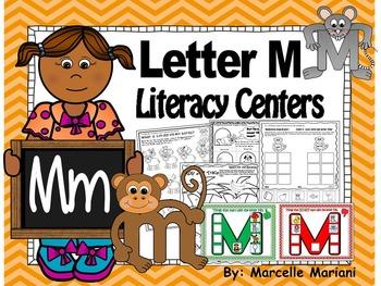 Letter of the week- Letter M Literacy Center Activities for kindergarten