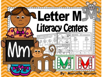 Letter of the week- Letter M Literacy Center Activities fo