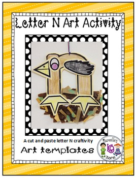 Letter of the week-Letter N-Art Activity Template- A lette