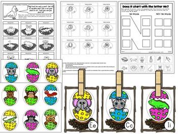 Letter of the week- Letter N Literacy Center Activities for kindergarten