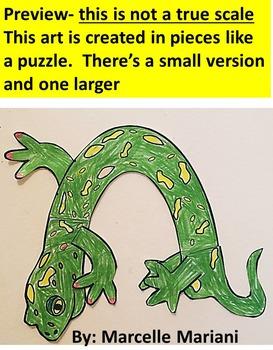 Letter N art activity- N is for Newt- A letter N Art Craftivity