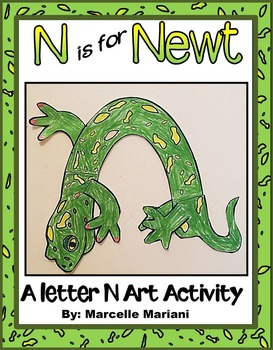 Letter of the week-Letter N- N is for Newt- A letter N Art