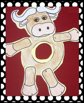 Letter O Art Activity Template- O is for Ox art activity