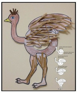 Letter O Art Activity Template- O is for Ostrich art activity