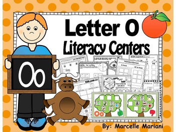 Letter of the week- Letter O Literacy Center Activities for kindergarten