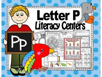 Letter of the week- Letter P Literacy Center Activities for kindergarten